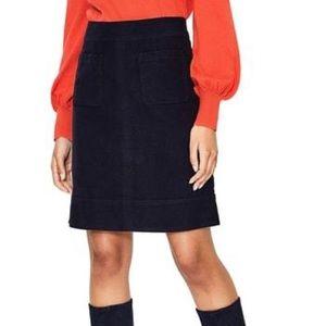 Boden Dorchester Patch Pocket Black Miniskirt